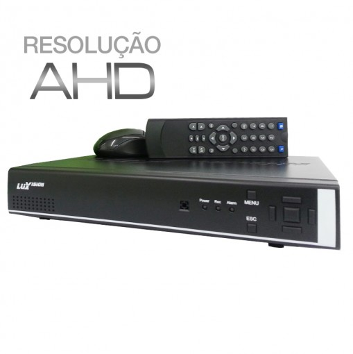 DVR Stand Alone AHD 4 Canais Híbrido com Saída HDMI e Qualidade HD Luxvision