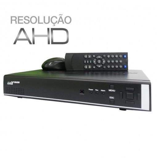 DVR Stand Alone AHD 8 Canais Híbrido com Saída HDMI Qualidade HD Luxvision