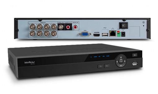 DVR Stand Alone Gravador digital de vídeo HDCVI Híbrido 8 Canais Resolução HD 3008 Intelbras