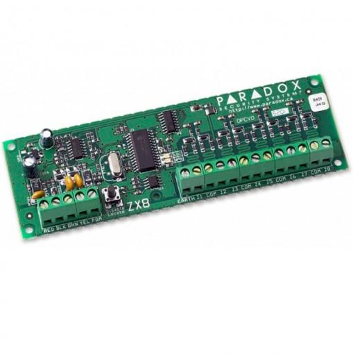 Expansor com fio ZX8 sistema Bus para 8 zonas auto reconhecimento Paradox