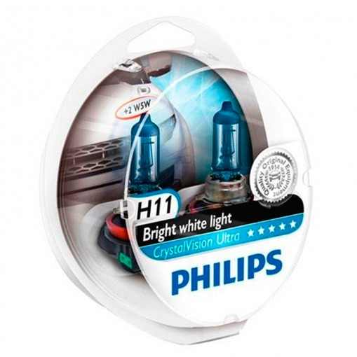 Farol Lâmpada Automotiva H11 Crystal Vision Ultra 4300K Philips
