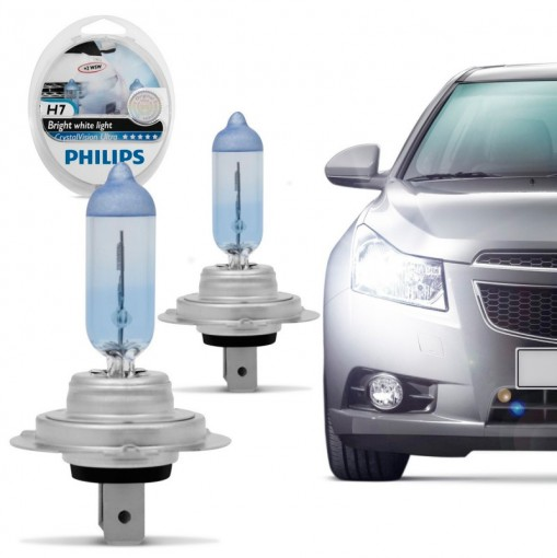Farol Lâmpada Automotiva H7 Crystal Vision Ultra 4300K Philips