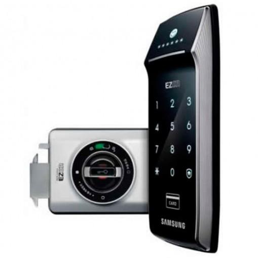 Fechadura Digital Samsung SHS-2320 - Cartão de Memória Com Engate Lateral