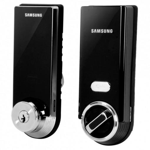 Fechadura Digital Samsung SHS-3320 - Abertura por Senha Cartão e Chave