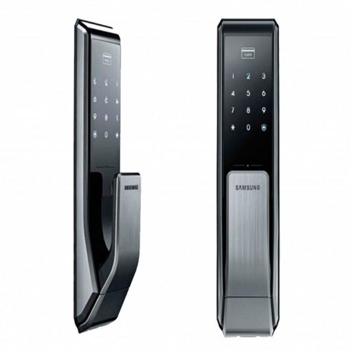 Fechadura Digital Samsung SHS-P717 - Abertura por Cartão senha e chave