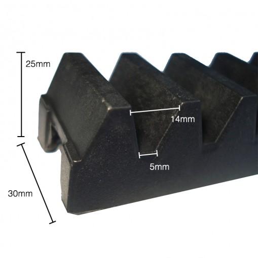 Gomo de Nylon para Cremalheira Industrial 27 Centímetros