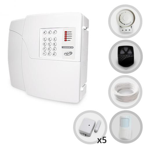 Kit Alarme Residencial PPA 6 Sensores Sem Fio + Discadora (Controles e Sensores Não Cadastrados)