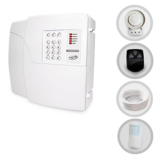 Kit Alarme Residencial e Comercial Sem Fio PPA Com 1 Sensor e Discadora (Controles e Sensores Não Configurados)