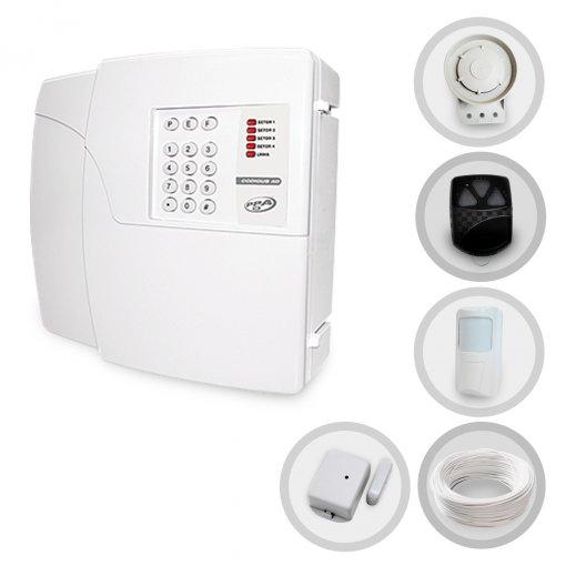 Kit Alarme Residencial Sem Fio PPA Com 2 Sensores e Discadora (Controles e Sensores Já Configurados)