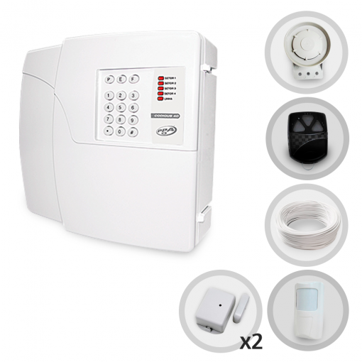Kit Alarme Residencial e Comercial Sem Fio PPA Com 3 Sensores e Discadora (Controles e Sensores Já Configurados)