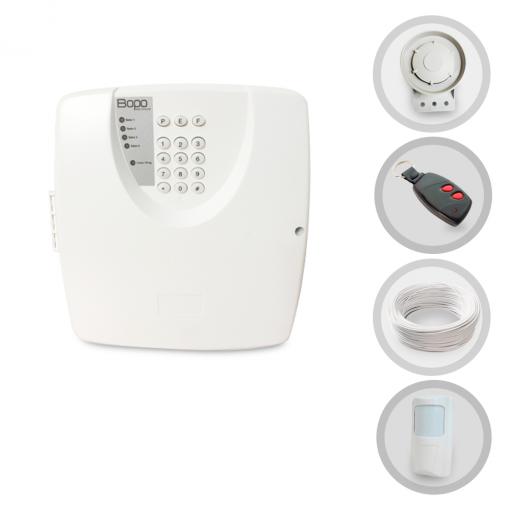 Kit Alarme Residencial ou Comercial Bopo Sem Fio Com 1 Sensor e Discadora