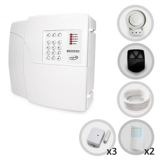 Kit Alarme Residencial Sem Fio PPA Com 5 Sensores e Discadora (Controles e Sensores Já Configurados)