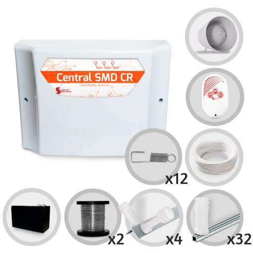 Kit Cerca Elétrica GCP Haste Estrela 6 Isoladores 90 Metros de Muro (Com Bateria)