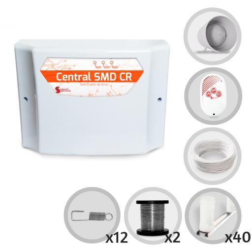 Kit Cerca Elétrica GCP Para 120 Metros de Muro (Sem Bateria)