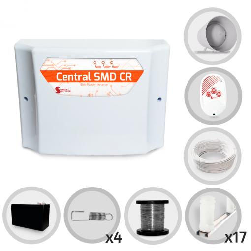 Kit Cerca Elétrica GCP Para 50 Metros de Muro (Com Bateria)