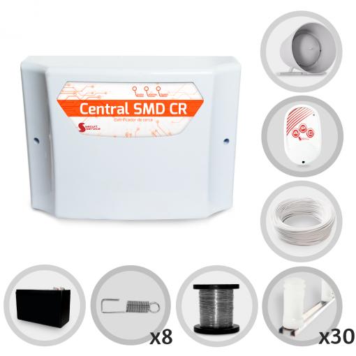 Kit Cerca Elétrica GCP Para 90 Metros de Muro (Com Bateria)