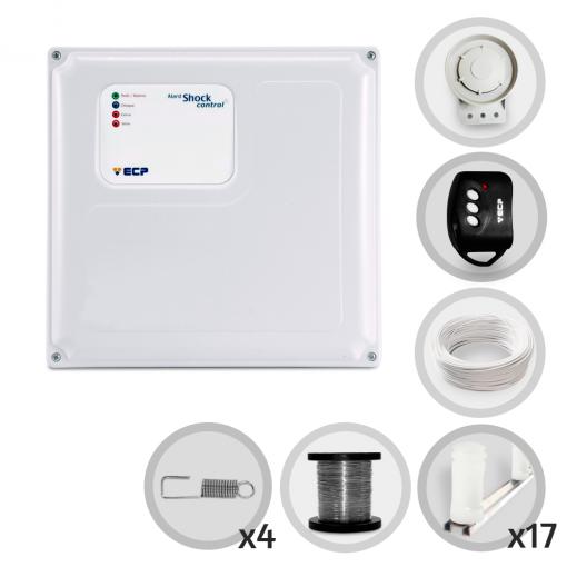 Kit Cerca Elétrica Shock Control ECP Para 50 Metros de Muro (Sem Bateria)