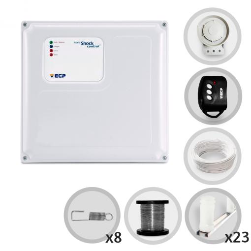 Kit Cerca Elétrica Shock Control ECP Para 70 Metros de Muro (Sem Bateria)