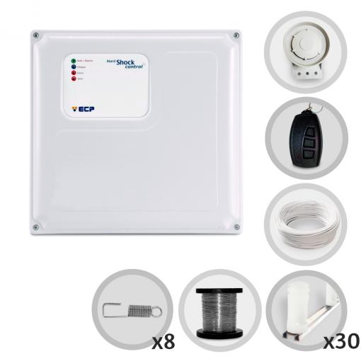 Kit Cerca Elétrica Shock Control ECP para 90 Metros de Muro (Sem Bateria)