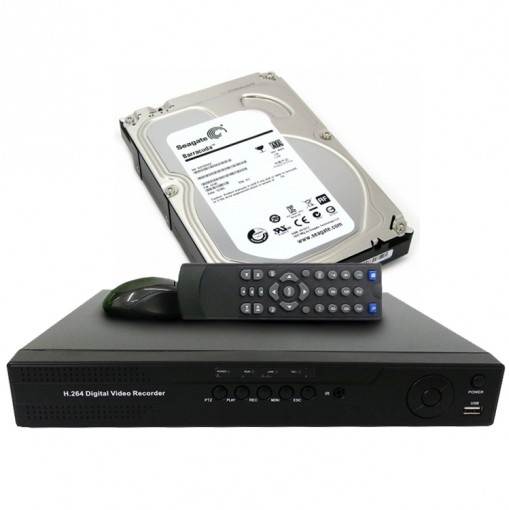 Kit DVR Stand Alone 8 Canais + HD Interno 1TB CF004