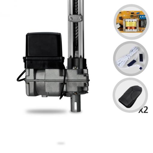 Kit Motor de Portão Eletrônico Basculante Bopo BV UP 1/3 HP 1,40 metros