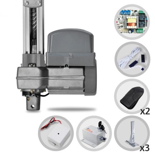 Kit Motor de Portão Eletrônico Basculante PPA Penta Predial 1/2 HP + Suportes + Trava + Tx Car