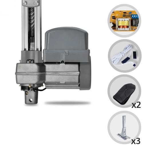 Kit Motor de Portão Eletrônico Basculante PPA Potenza Predial 1/3 HP 1,50m + Suportes