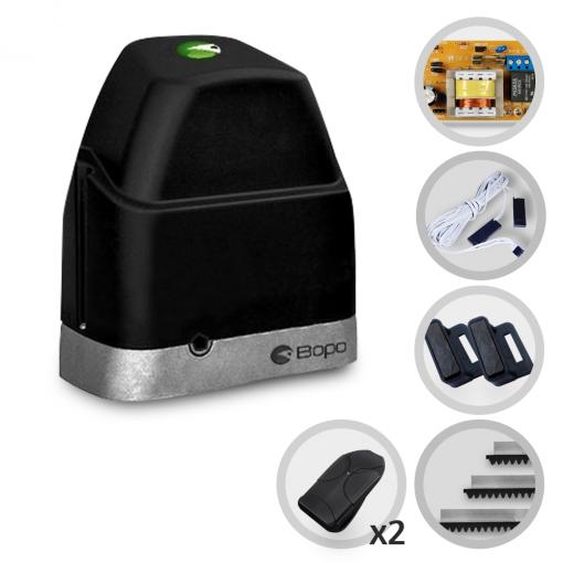 Kit Motor de Portão Eletrônico Deslizante Bopo DZ Slim POP PLUS 1/4 HP