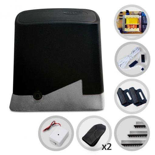 Kit Motor de Portão Eletrônico Deslizante PPA DZ Home Pop Plus 1/4 HP PPA + Tx Car