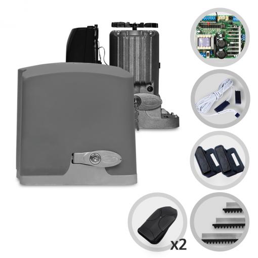 Kit Motor de Portão Eletrônico Deslizante PPA DZ R 500 1/3 HP Jet Flex
