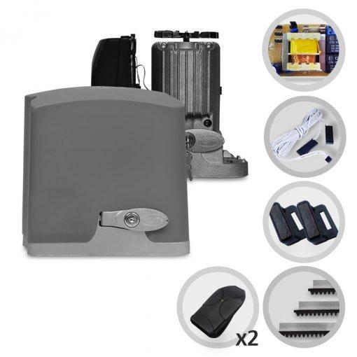 Kit Motor de Portão Eletrônico Deslizante PPA Dz Rio R400 1/4 HP