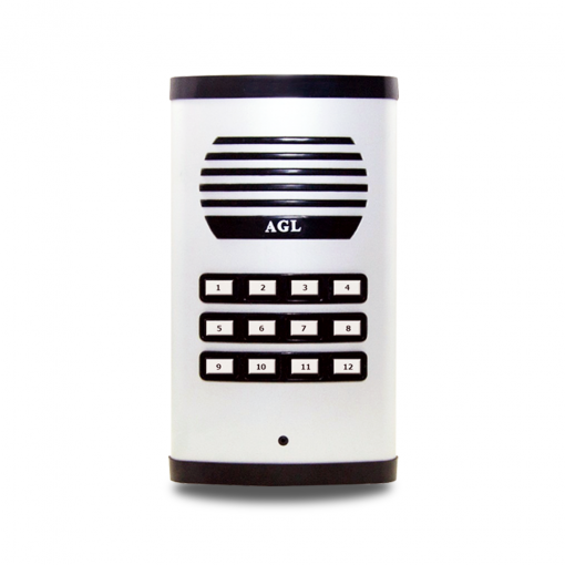 Porteiro Eletrônico Coletivo de 12 Pontos AGL - Condomínios Residenciais ou Edifícios