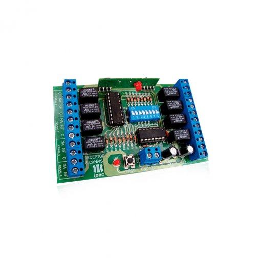 Receptor com Fio Programável 8 Canais para Ampliar Zonas de Alarme IPEC
