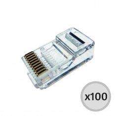 Conector Macho Rj45 8 Vias - 100 Unidades