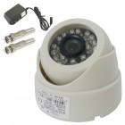 Dome Câmera IR 24 Leds 1/4 CCD 1200TVL 3,6mm (Visão noturna de 20) Fonte 12V 1A