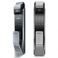 Fechadura Digital Biométrica Samsung SHS-P718 - Abertura por biometria cartão e senha