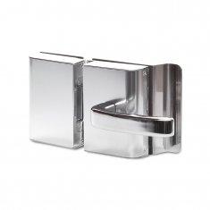 Fechadura Elétrica AGL para Porta de Vidro Abertura Externa Cromada Inox Tipo Alavanca