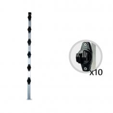 Imagem - Kit 10 Big Hastes Industriais Quadrada 25x25mm 6 isoladores 1 Metro