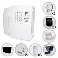 Kit Alarme Residencial PPA 12 Sensores Sem Fio e Discadora (Controles e Sensores Já Configurados)