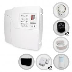 Kit Alarme Residencial e Comercial Sem Fio PPA Com 3 Sensores e Discadora + Bateria Backup