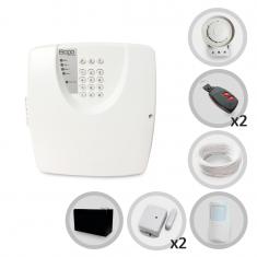 Kit Alarme Residencial ou Comercial 3 Sensores Sem Fio Bopo Com Discadora e Bateria para Backup