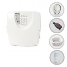 Imagem - Kit Alarme Residencial ou Comercial Bopo Sem Fio Com 1 Sensor e Discadora