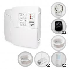 Kit Alarme Residencial PPA 4 Sensores Com Fio