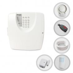 Kit Alarme Residencial ou Comercial Sem Fio Bopo Com 2 Sensores e Discadora