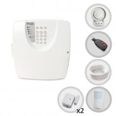 Kit Alarme Residencial ou Comercial Bopo 3 Sensores Sem Fio e Discadora