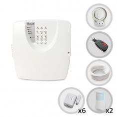 Imagem - Kit Alarme Residencial ou Comercial Sem Fio Bopo Com 8 Sensores e Discadora