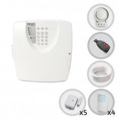 Kit Alarme Residencial ou Comercial Sem Fio Bopo Com 9 Sensores e Discadora