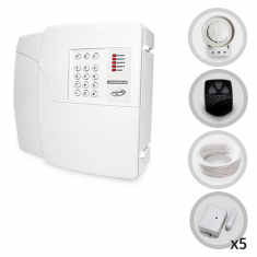 Kit Alarme Residencial PPA Com 5 Sensores Magnéticos Sem Fio e Discadora