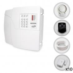 Imagem - Kit Alarme Residencial PPA 10 Sensores Magnéticos Sem Fio (Controles e Sensores Já Cadastrados)