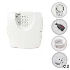 Imagem - Kit Alarme Residencial Bopo 10 Sensores Magnéticos Sem Fio e Discadora
